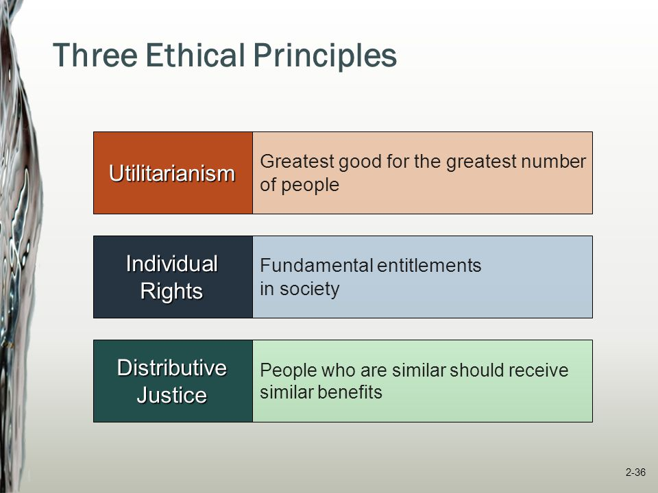 Three Ethical Principles