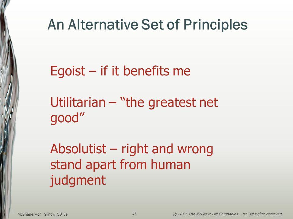 An Alternative Set of Principles