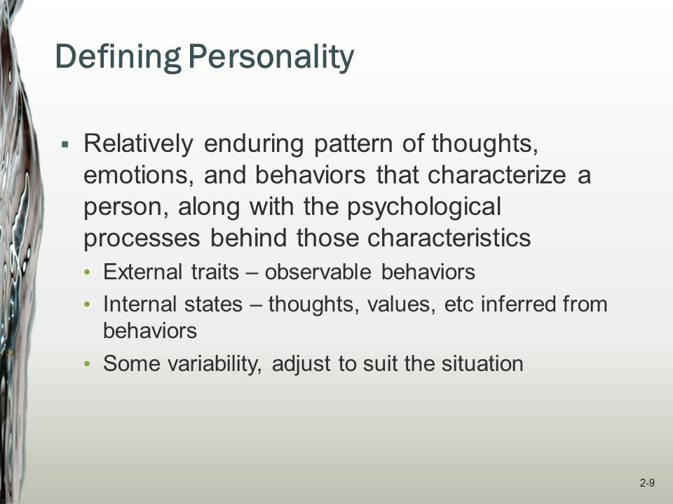 Defining Personality