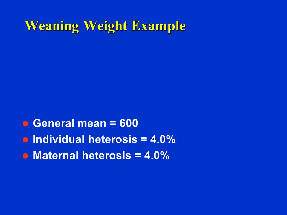 Weaning Weight Example