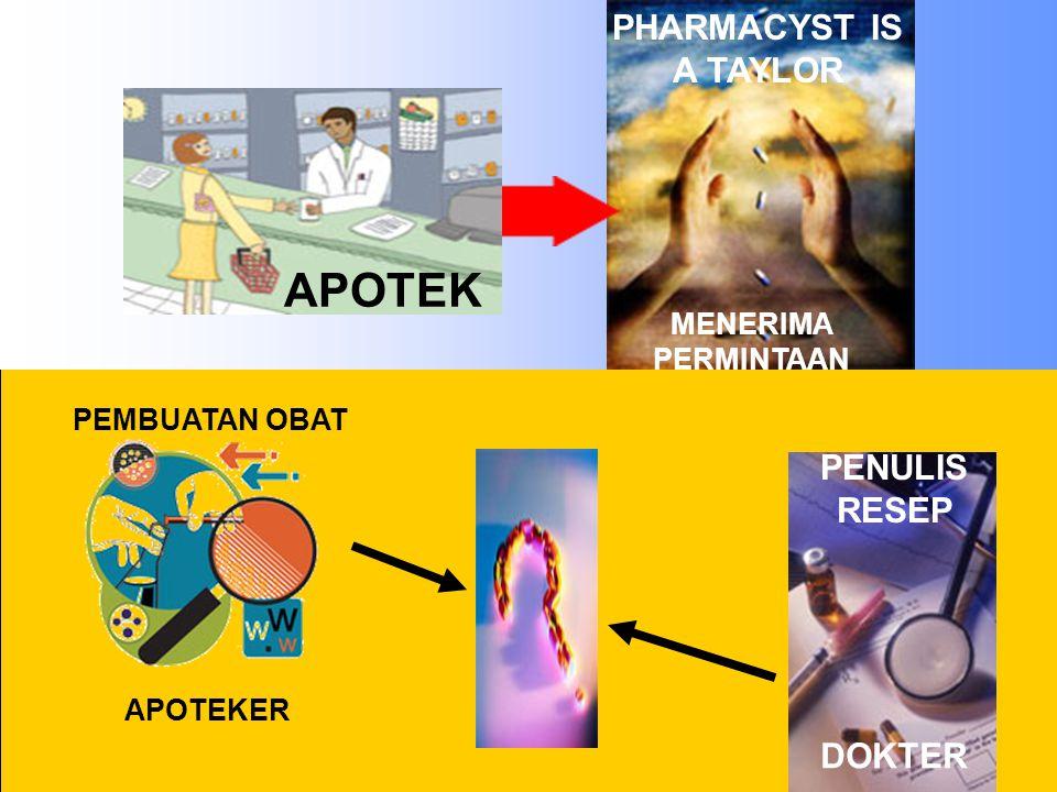 APOTEK PHARMACYST IS A TAYLOR PENULIS RESEP DOKTER MENERIMA PERMINTAAN