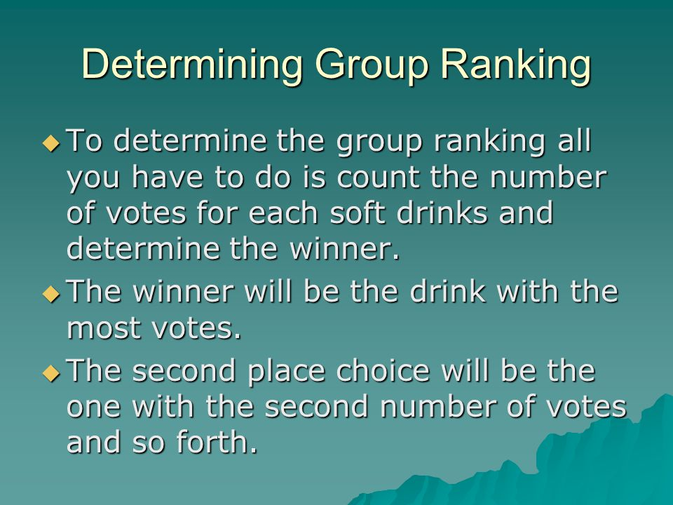 Determining Group Ranking