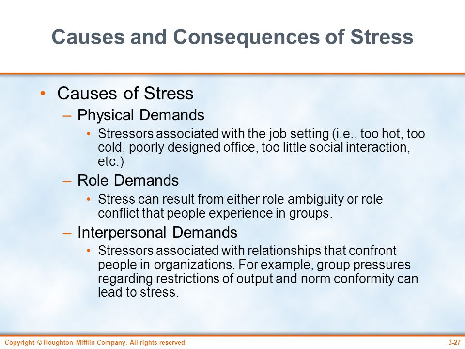 Causes and Consequences of Stress