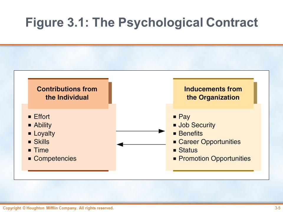 Figure 3.1: The Psychological Contract