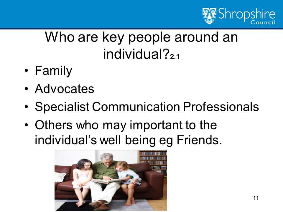 Who are key people around an individual 2.1