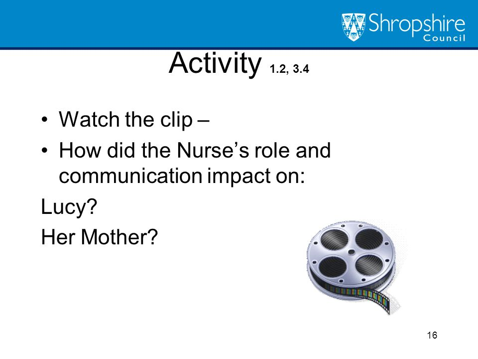Activity 1.2, 3.4 Watch the clip –