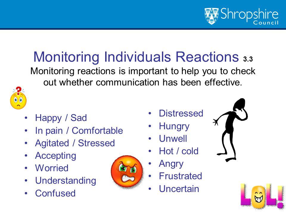 Monitoring Individuals Reactions 3