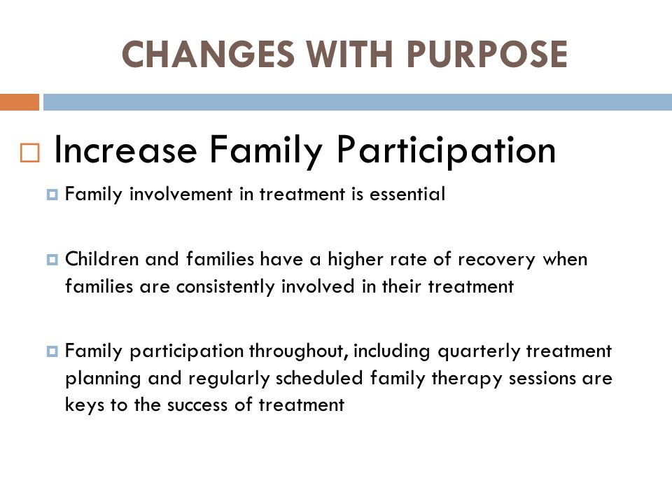 Increase Family Participation