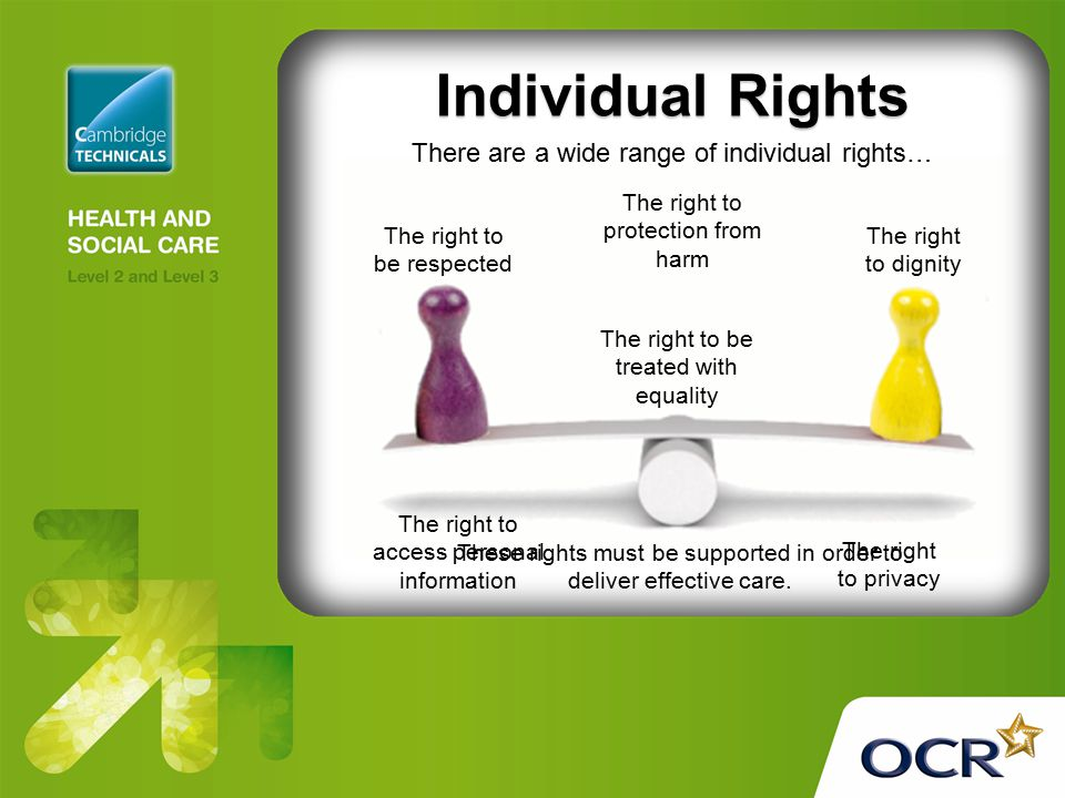 Individual Rights There are a wide range of individual rights…