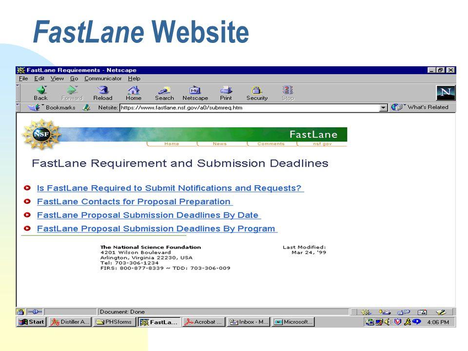 FastLane Website