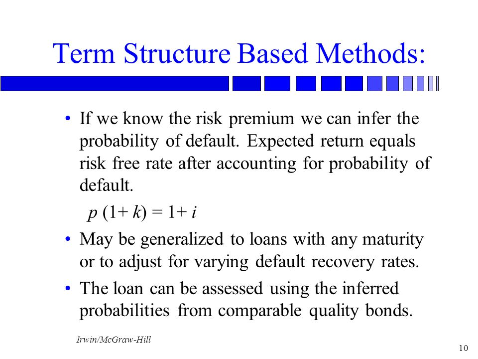 Term Structure Based Methods: