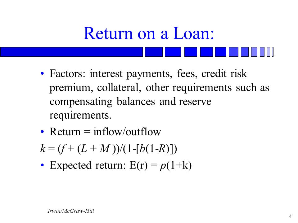 Return on a Loan: