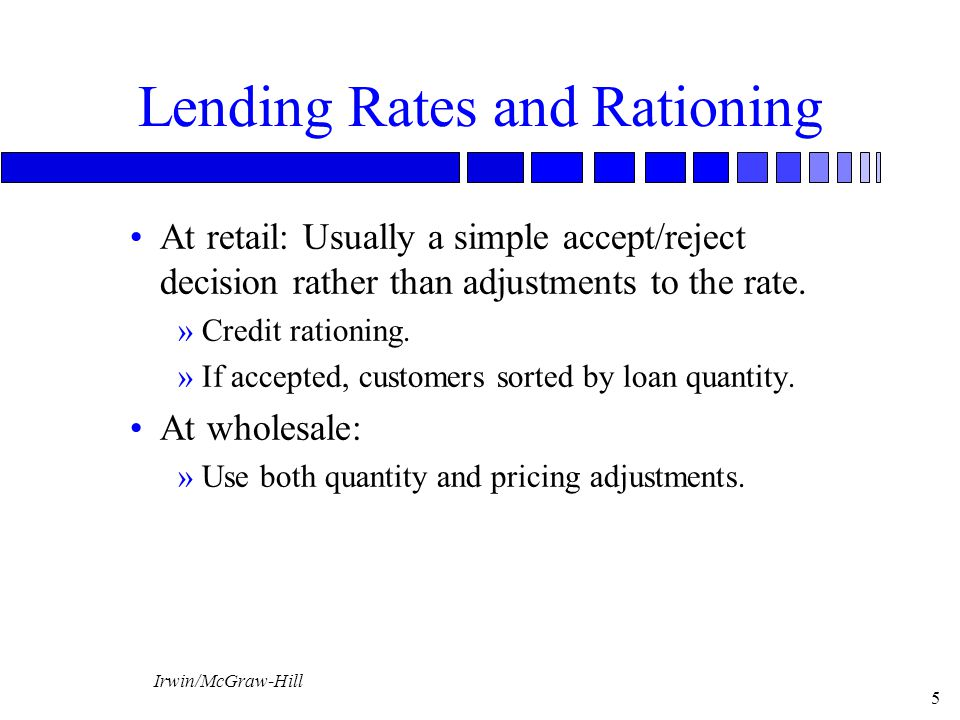 Lending Rates and Rationing