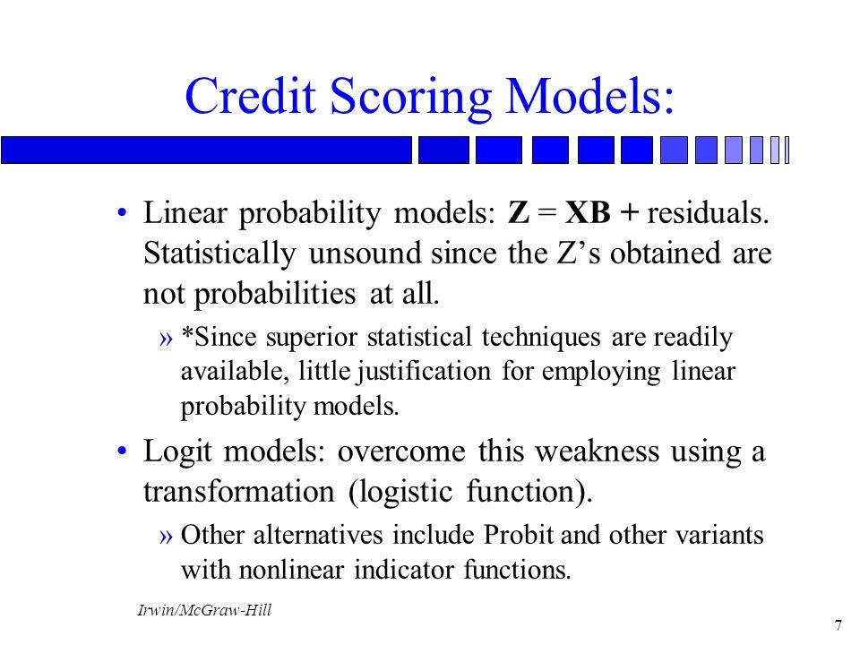 Credit Scoring Models: