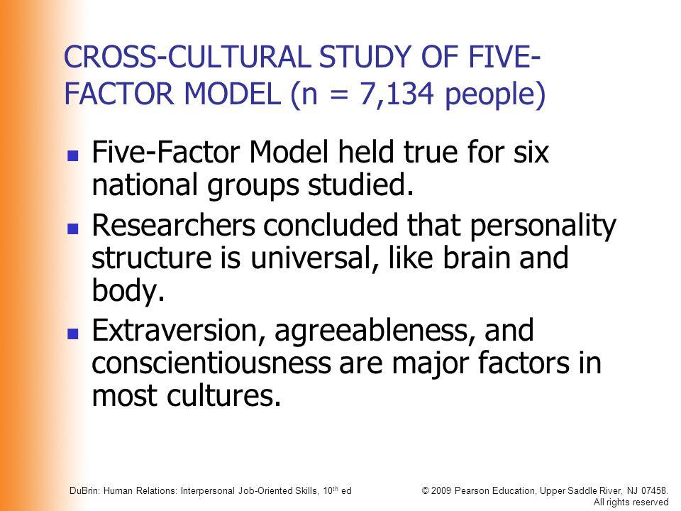 CROSS-CULTURAL STUDY OF FIVE-FACTOR MODEL (n = 7,134 people)