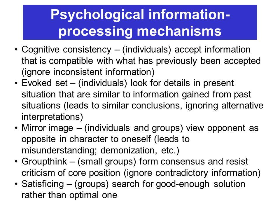 Psychological information- processing mechanisms