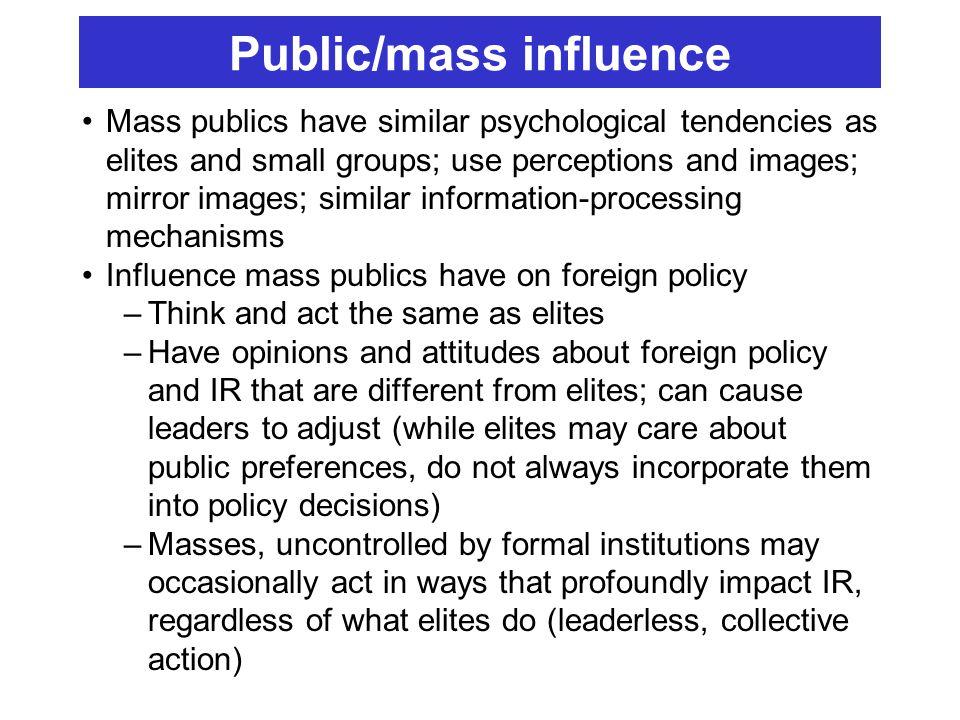 Public/mass influence