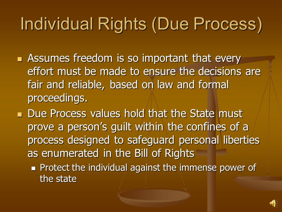 Individual Rights (Due Process)