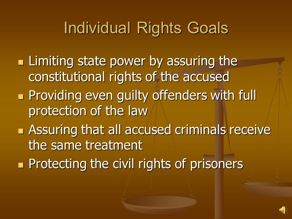Individual Rights Goals