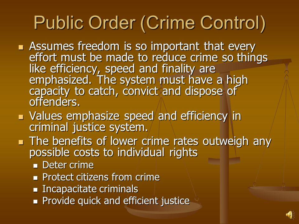 Public Order (Crime Control)