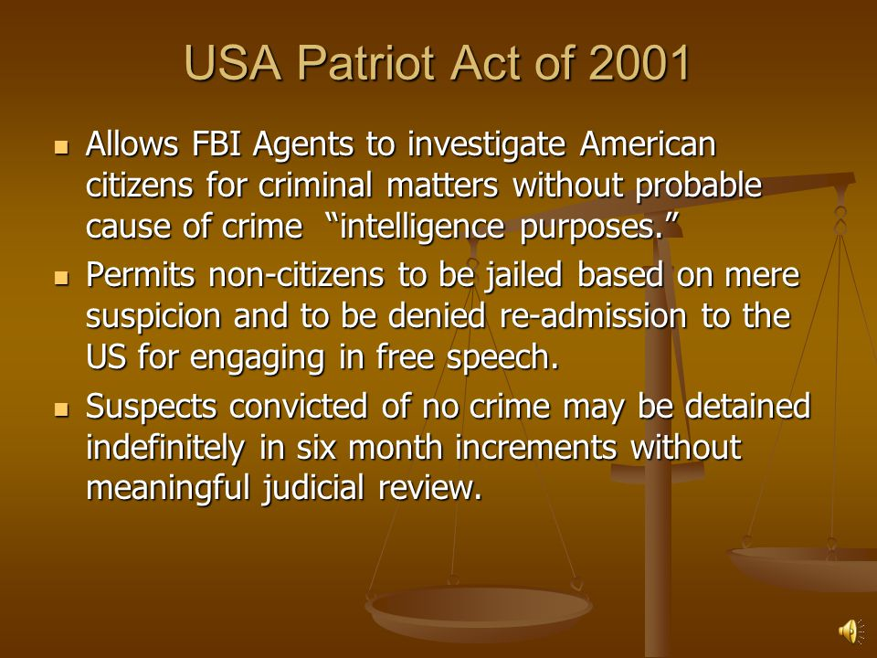 USA Patriot Act of 2001