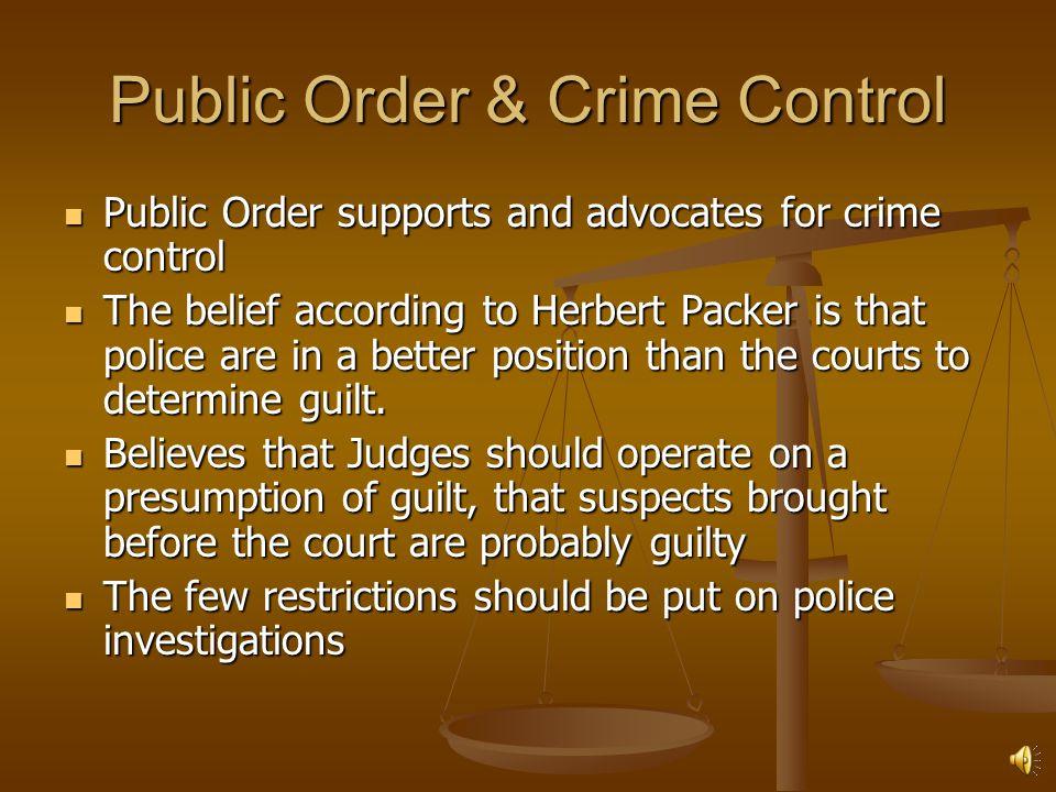 Public Order & Crime Control