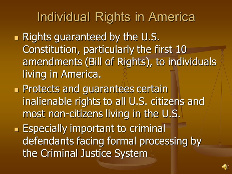 Individual Rights in America
