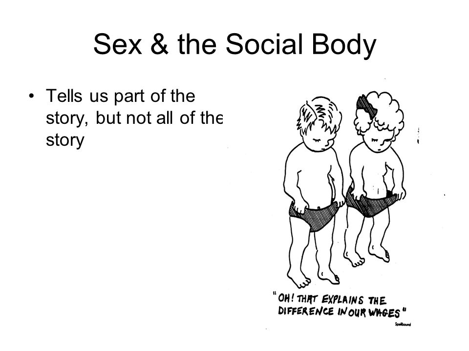 Sex & the Social Body Tells us part of the story, but not all of the story