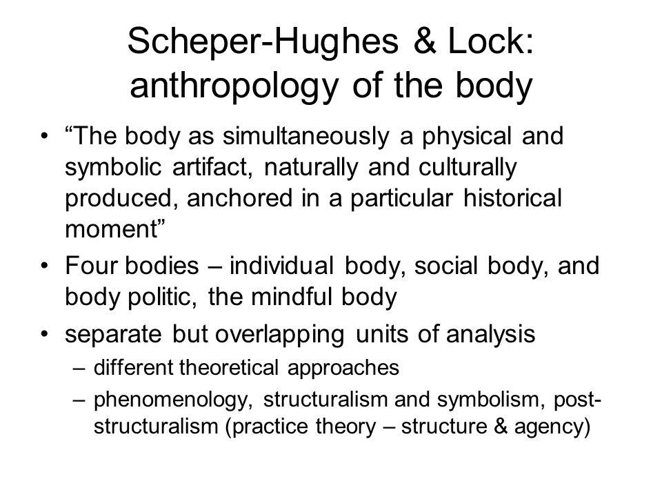 Scheper-Hughes & Lock: anthropology of the body