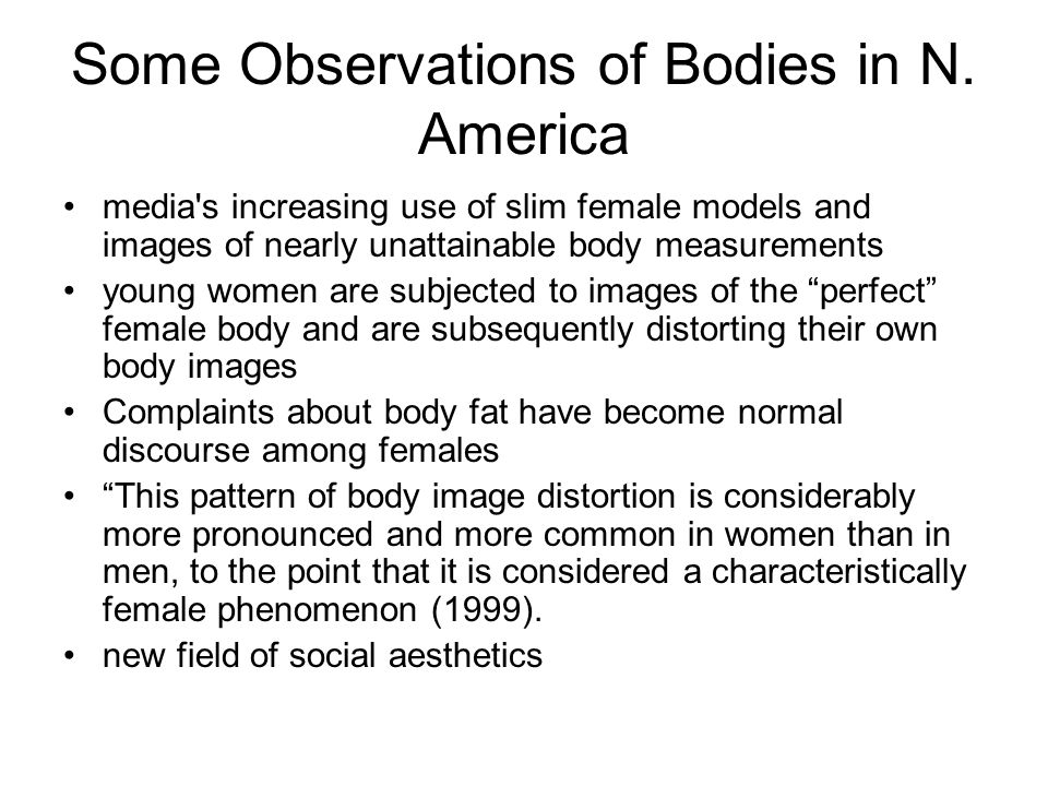 Some Observations of Bodies in N. America