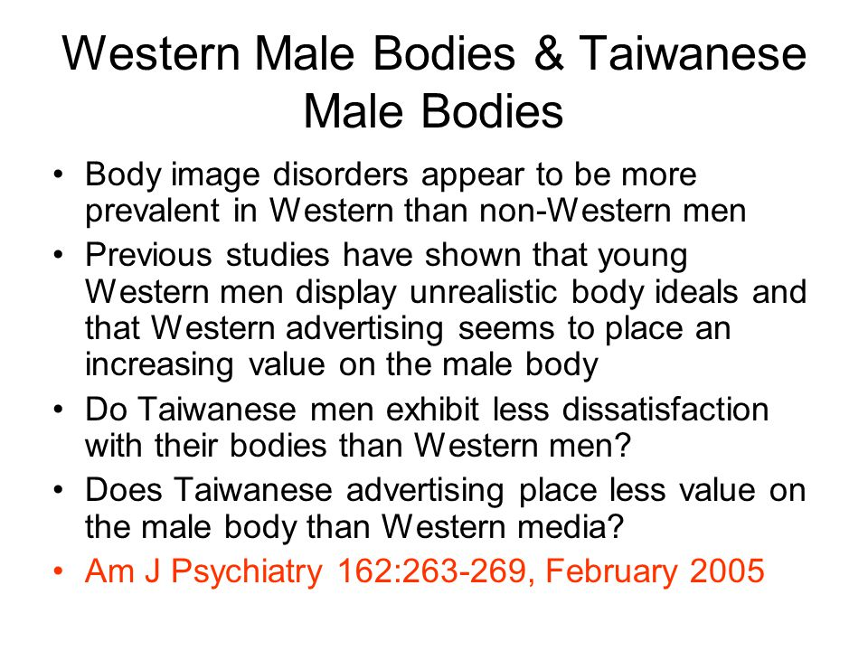 Western Male Bodies & Taiwanese Male Bodies
