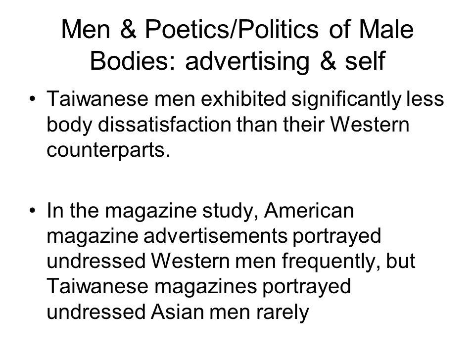 Men & Poetics/Politics of Male Bodies: advertising & self