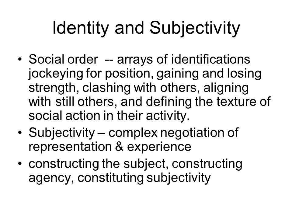 Identity and Subjectivity