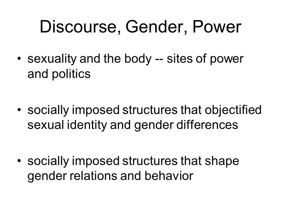 Discourse, Gender, Power