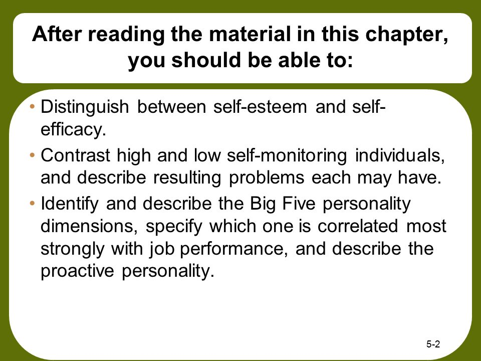 After reading the material in this chapter, you should be able to: