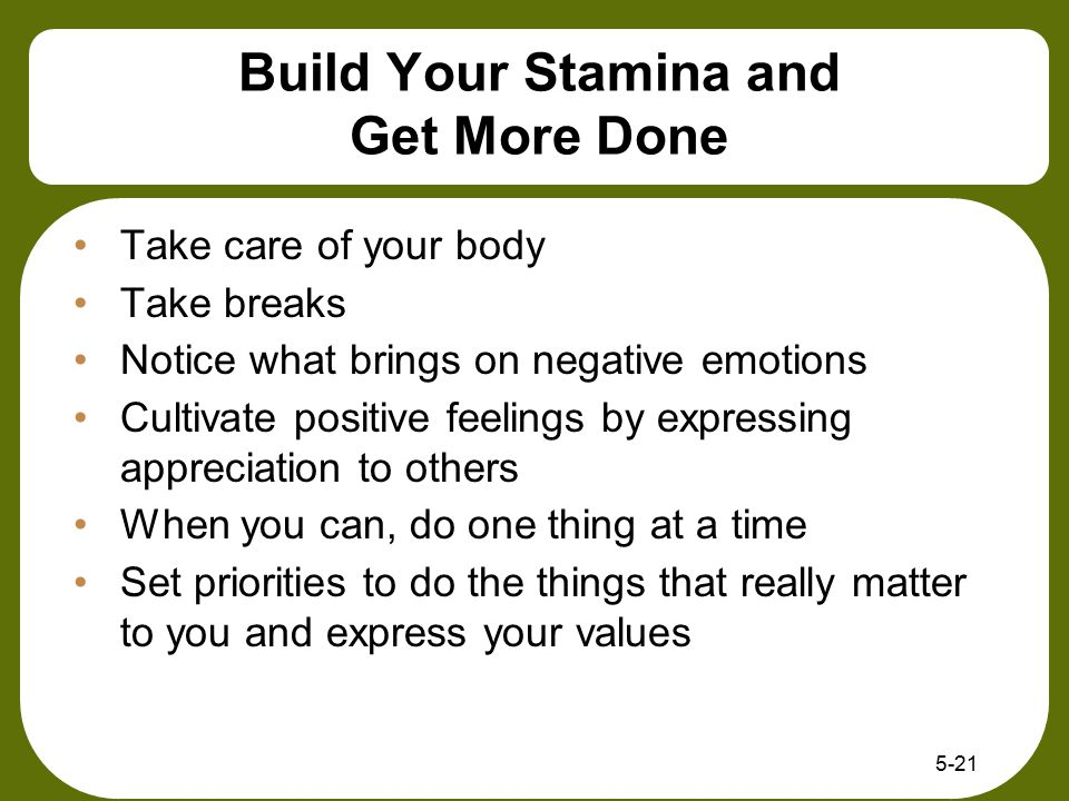 Build Your Stamina and Get More Done