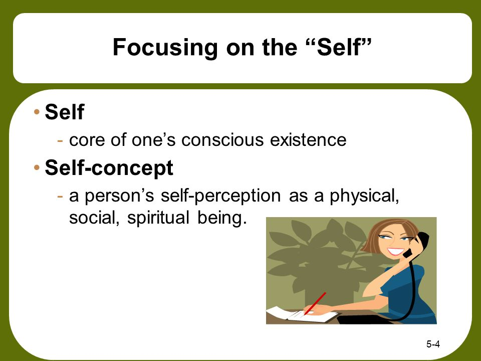 Focusing on the Self Self Self-concept