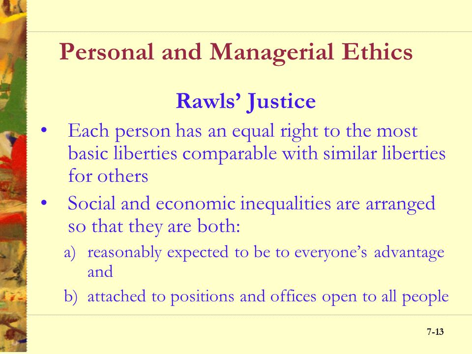 Personal and Managerial Ethics