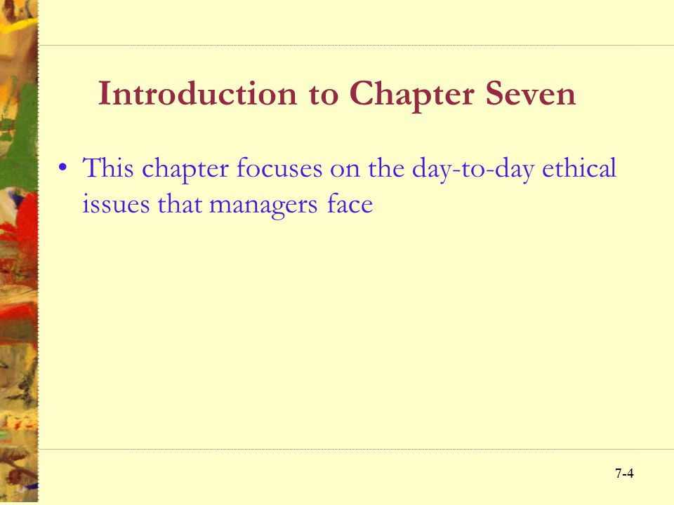 Introduction to Chapter Seven
