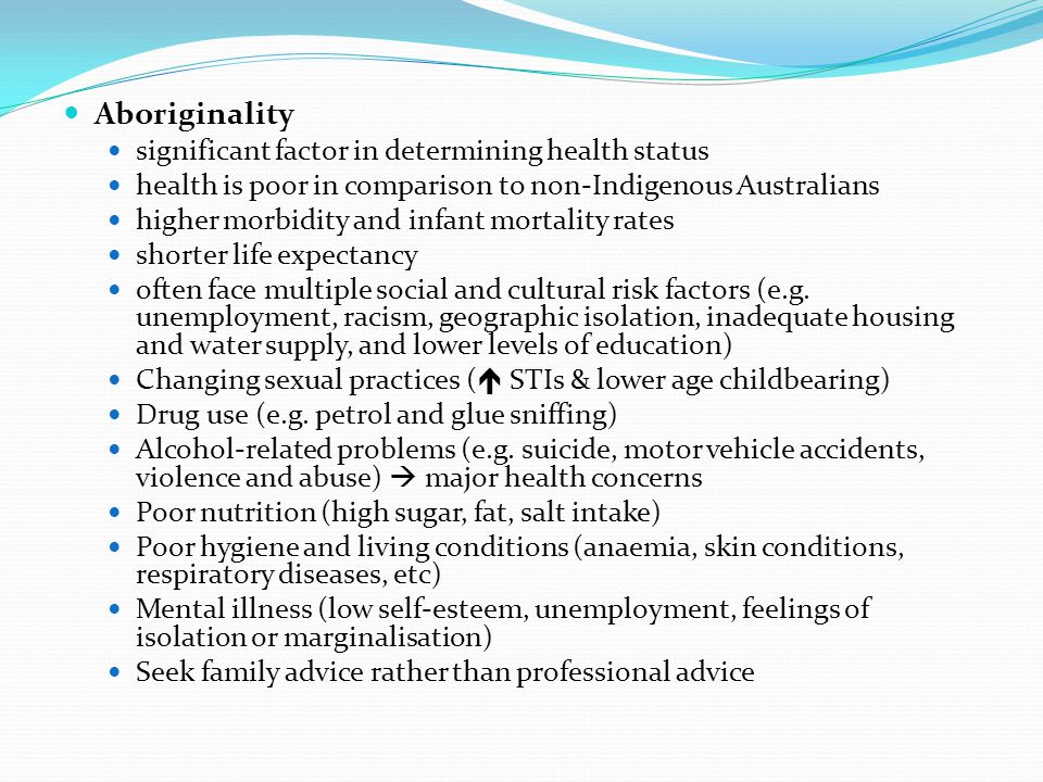 Aboriginality significant factor in determining health status