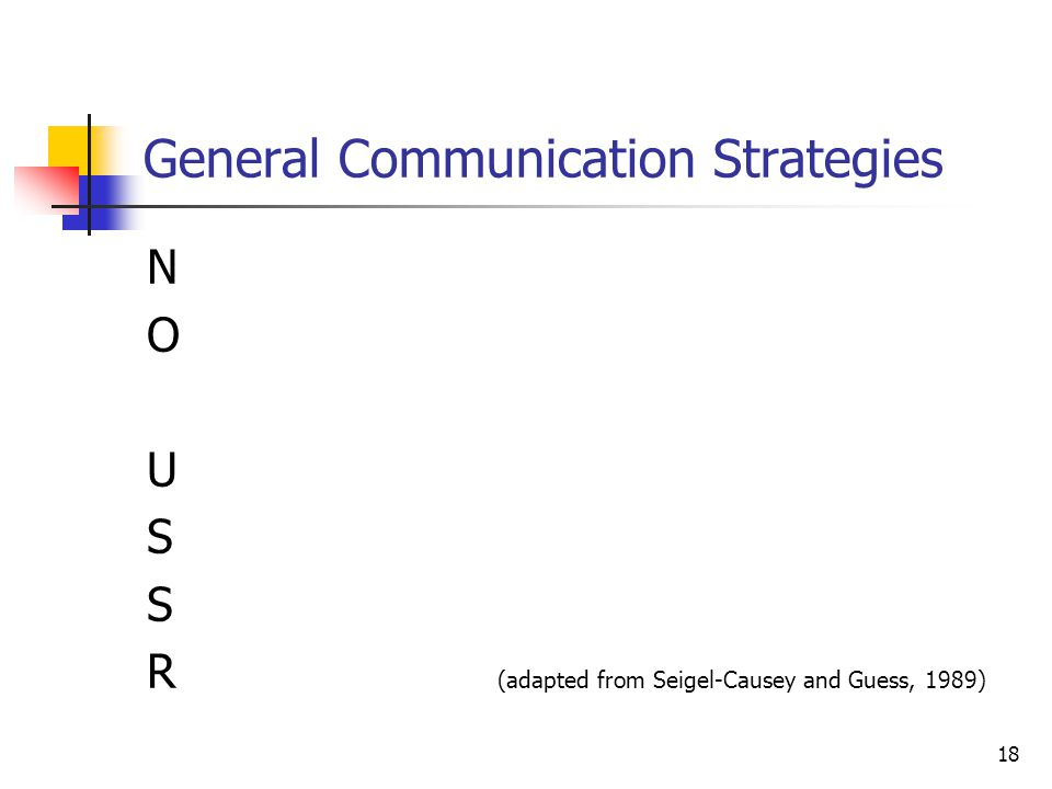 General Communication Strategies