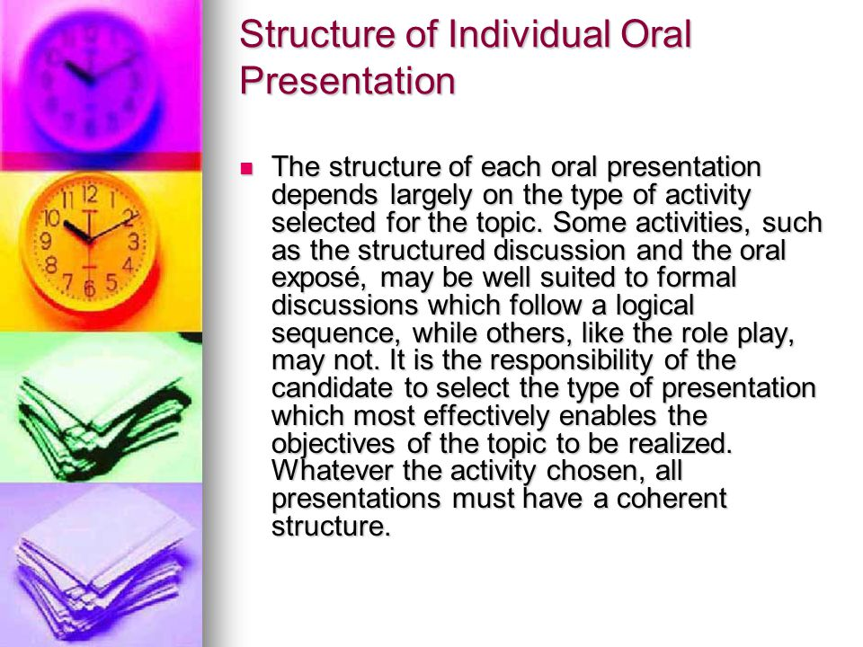 Structure of Individual Oral Presentation