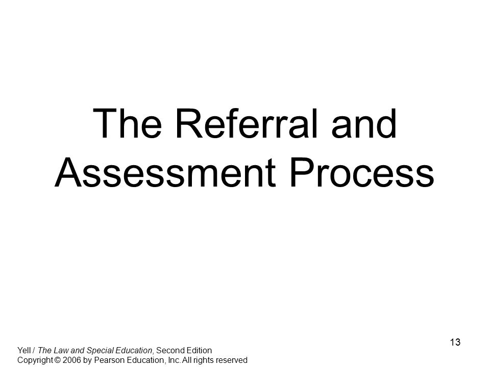 The Referral and Assessment Process