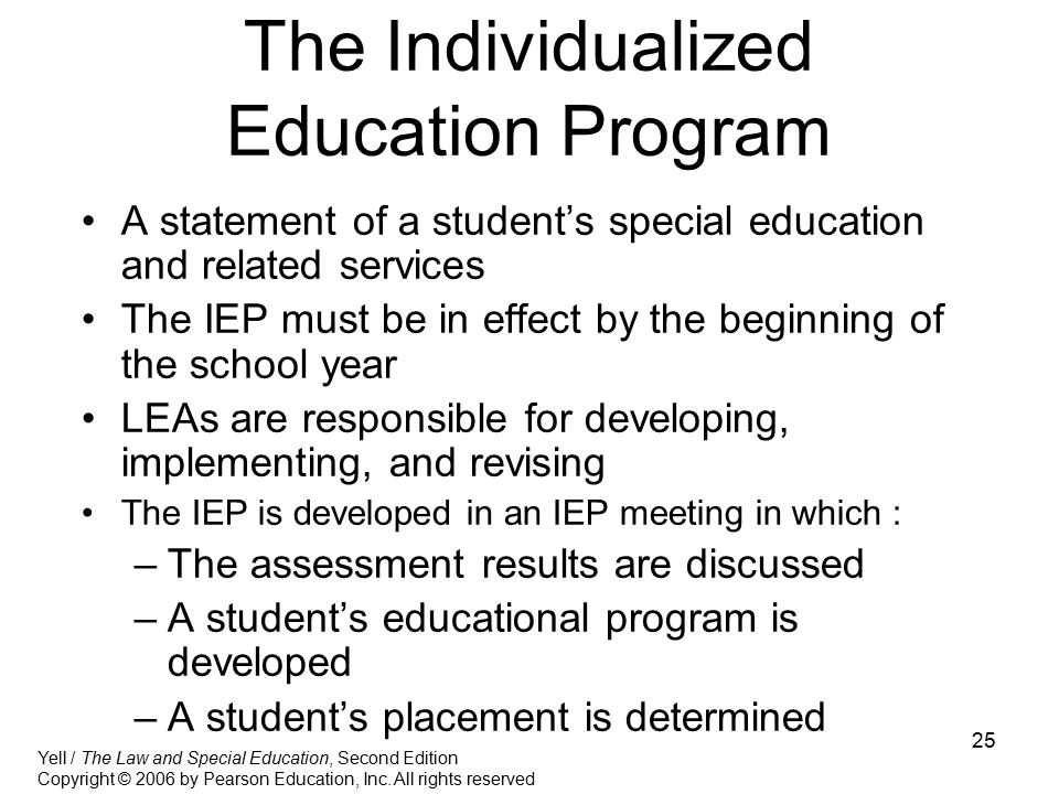 The Individualized Education Program