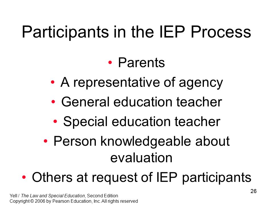 Participants in the IEP Process