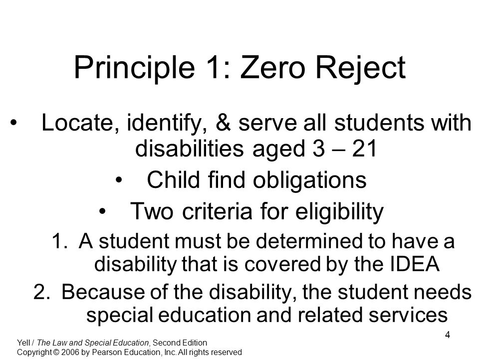 Principle 1: Zero Reject