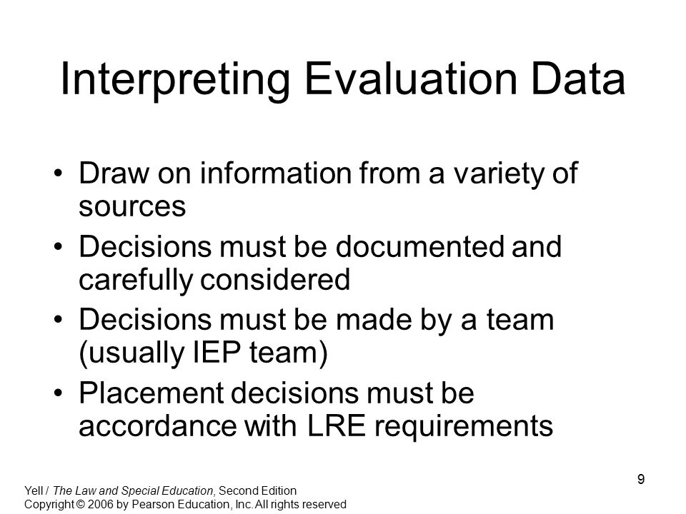 Interpreting Evaluation Data