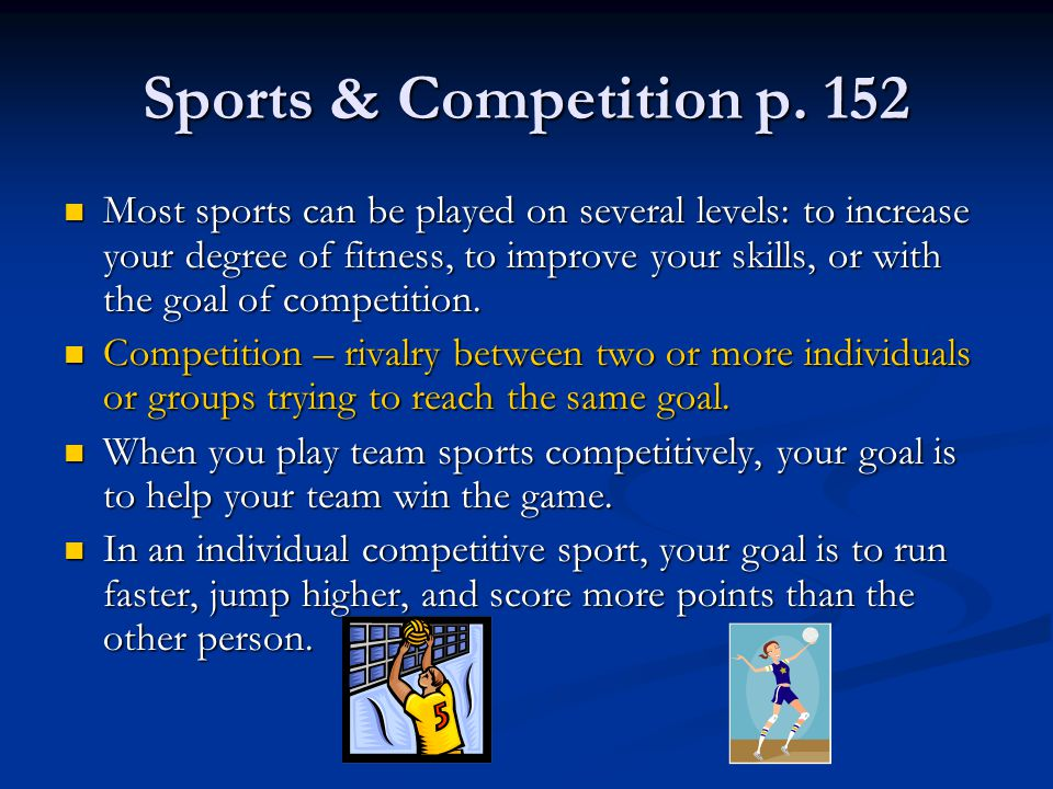 Sports & Competition p. 152