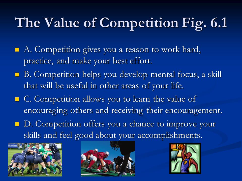 The Value of Competition Fig. 6.1