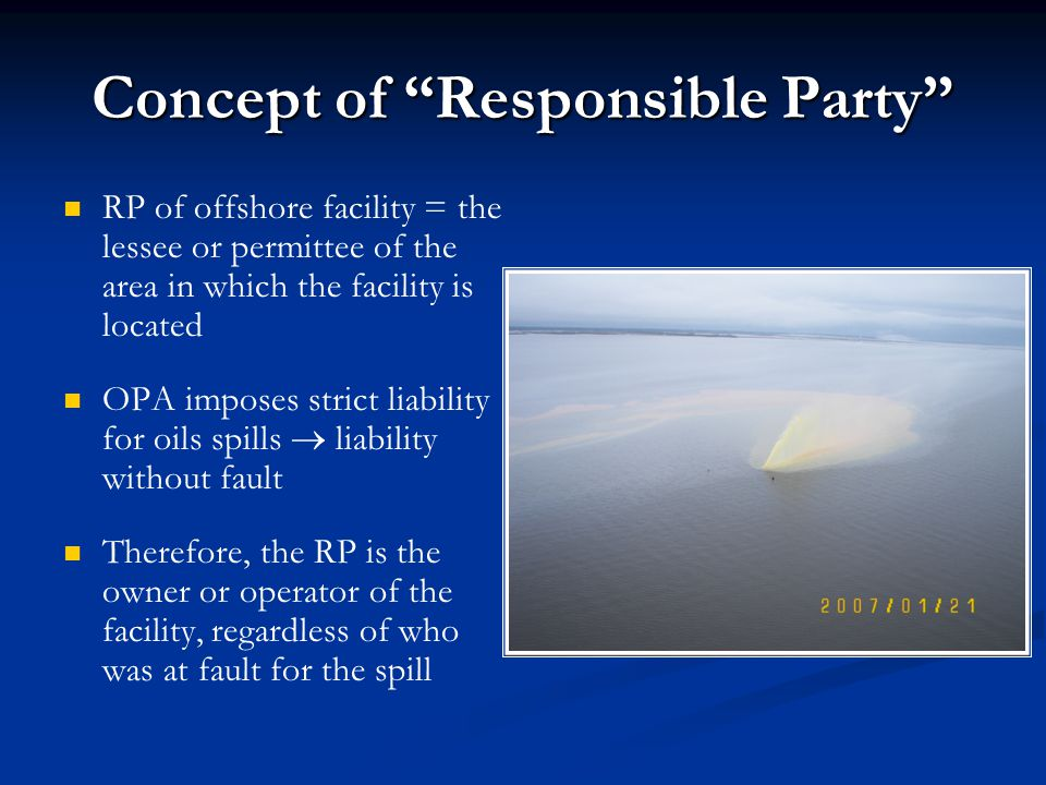 Concept of Responsible Party